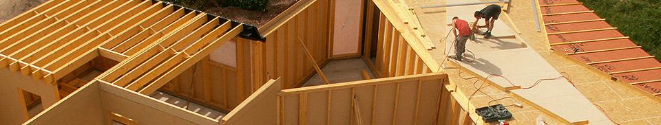 Syst me ossature bois vermont maisons ossature bois basse consommation en haute sa ne for Construction bois en franche comte