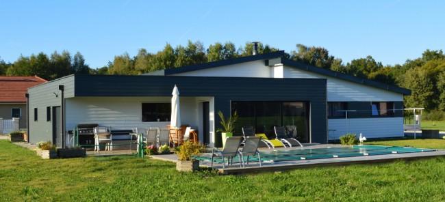 Maison vy l s lure vermont maisons ossature bois basse consommation en haute sa ne for Construction bois en franche comte