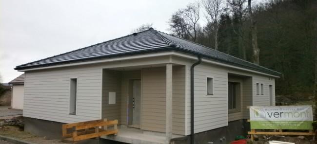 Maison raddon vermont maisons ossature bois basse for Maison container franche comte