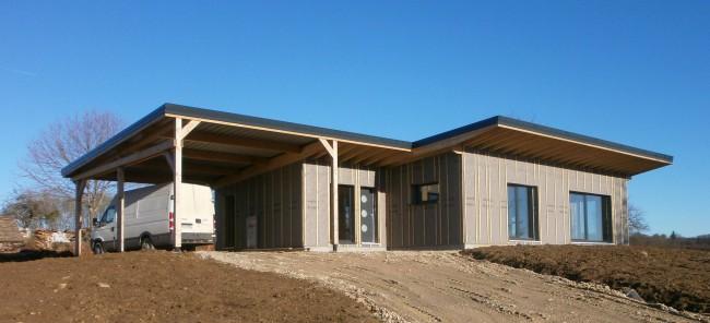 Maison belmont vermont maisons ossature bois basse consommation en haute sa ne franche for Construction bois en franche comte